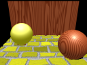 The new shaders - Deeper yellow bricks, and superbright specular