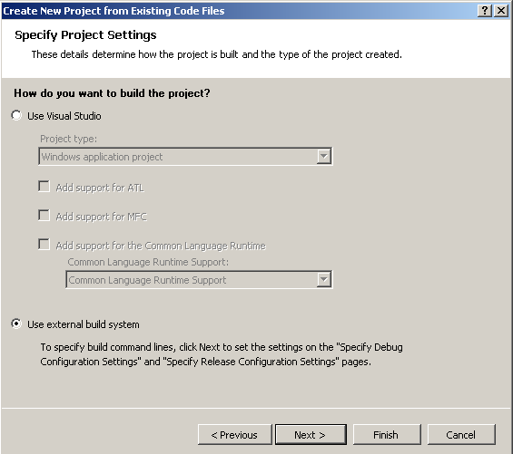 Visual Studio 2005 Setup - Step 3